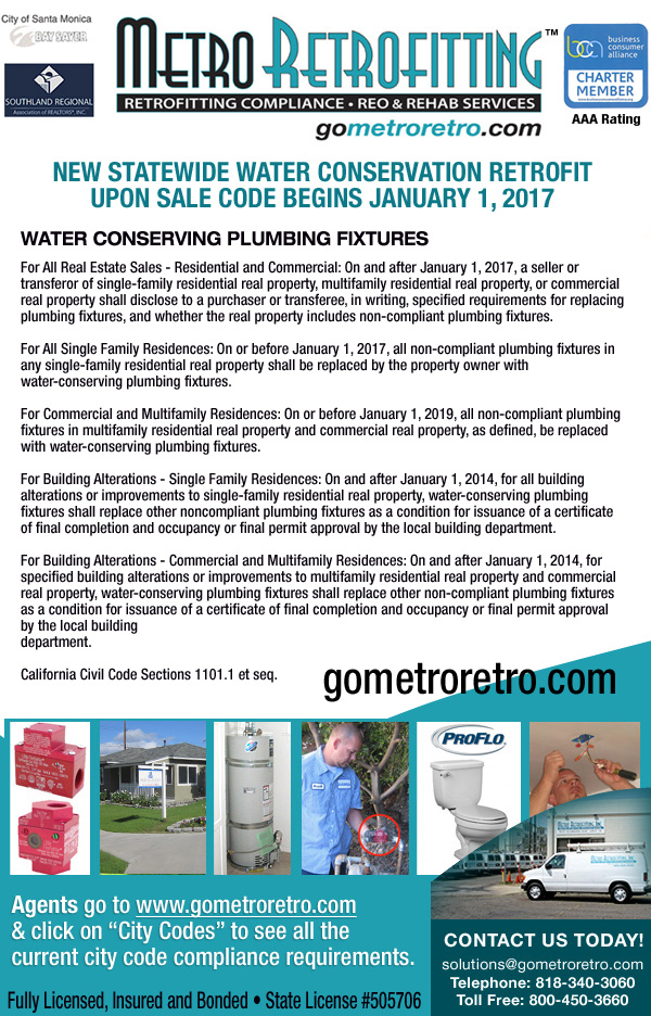 Metro Retrofitting New Water Conservation Codes All Real Estate